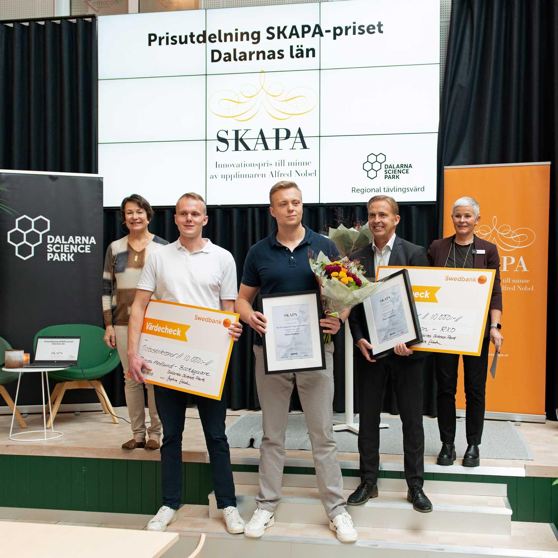 Årets SKAPA-innovatörer i Dalarna har fokus på hållbara digitala och tekniska innovationer